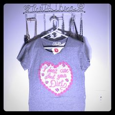 """BRAND NWT Wildfox """"Don't Care About Your Diet"""" Tee LOVE this brand new with tags Wildfox tee. """"I Don't Care About Your Diet"""". Never worn. Size small but oversized. Super soft fabric. But it quick before someone else does! Wildfox Tops Tees - Short Sleeve"""