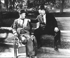 Stan Laurel and Oliver Hardy in a scene from the 1938 film Block-Heads. Laurel And Hardy, Stan Laurel Oliver Hardy, Comedy Duos, Sound Film, Great Comedies, Silent Film, Classic Movies, Vintage Photos, Movie Stars