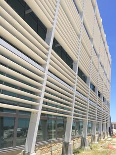 Shade Feature on the new hospital at Lackland AFB