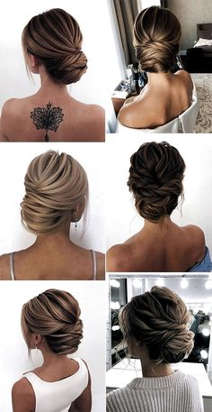 Women Hairstyles Over 60 Year Old Trendy Hairstyles 20 Classic Updo Wedding Hairstyles from Oksana o Loose Wedding Hair, Classic Wedding Hair, Wedding Hair And Makeup, Wedding Hairstyles And Makeup, Updos For Wedding, Sleek Wedding Updo, Elegant Wedding Hairstyles, Updos For Medium Length Hair, Medium Hair Styles