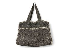 Black Large Batik Tote | TOMS