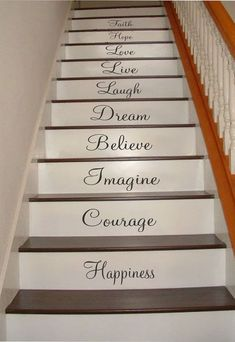 Inspiration Quotes Stair Riser Decals Stair Stickers by nanmadetoo