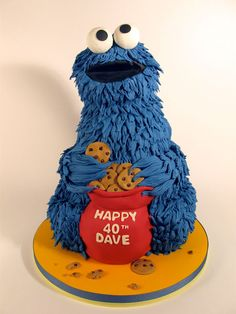 Full of love for Charm City Cakes! *This is not run by any staff/friends/family of Charm City Cakes, merely a fan of the show* Fancy Cakes, Cute Cakes, Fondant Cakes, Cupcake Cakes, 3d Cakes, Cookie Monster Party, Cake Shapes, Sculpted Cakes, Character Cakes