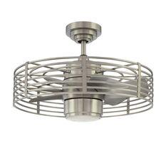 Trent Austin Design Glasgow Enclave 7 Blade LED Ceiling Fan with Remote, Light Kit Included Contemporary Ceiling Fans, Modern Ceiling, White Ceiling, Modern Contemporary, Modern Design, Hunter Douglas, Dim Lighting, Modern Lighting, Lighting Ideas