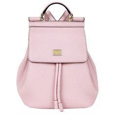 Dolce & Gabbana Mini Sicily Backpack ($1,245) ❤ liked on Polyvore featuring bags, backpacks, backpacks bags, rucksack bag, dolce gabbana bag, knapsack bags and pink backpack