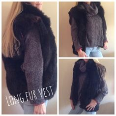 Long Brown Fur Vest This is not only a fashionable piece to add to your wardrobe it's also a practice accessory as well. It's very warm and comfortable. Jackets & Coats Vests