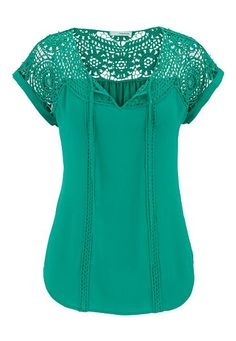 chiffon tee with open crochet (original price, $29) available at #Maurices