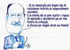 Umberto Eco (homenagem/caricatura/Bic sobre papel Canson)