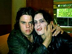 Ville Valo (right) and Mige Amour (left). ♥♥♥. #VilleValo #HIM #HisInfernalMajesty