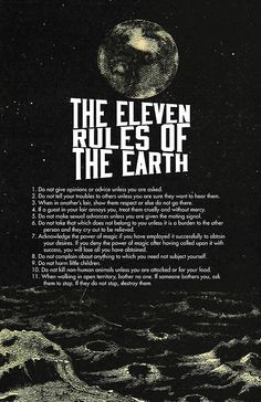 """""""Eleven Rules of The Earth Classic"""" Posters by Melkstudio 