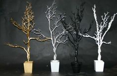 Trees with bendable branches.