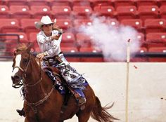 Kenda Lenseigne, Cowboy Mounted Shooting star and NRA Bianchi Cup competitor