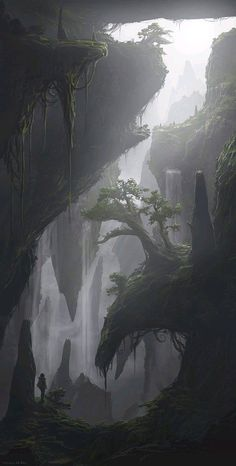 Image result for fantasy landscape gorge