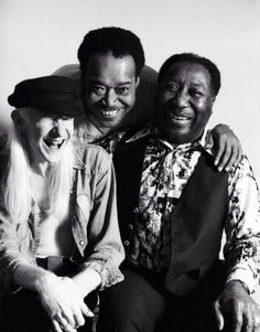Johnny Winter, James Cotton, and Muddy Waters
