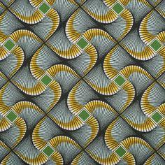 Tissu africain wax vert