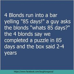 Not one, not but 4 blonds ,,, omg . Dumb Blonde Jokes, Funny Me, Funny Stuff, Dumb And Dumber, Lol, Humor, Guys, Sayings, Celebrities