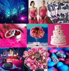 #bridalsuite  #Navy and #Fuchsia  #wedding #reception #cake #rings #patterns - - Yummy!!