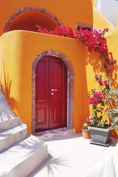 Colours of Santorini!!