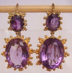 Regency Era earrings