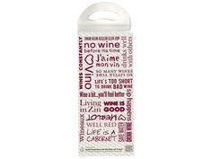 Wine Words Bubble Bottle Bag