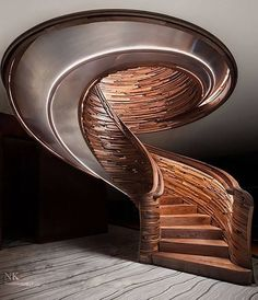 Let's say you would like to remodel your staircase and change out your previous rail brackets. You are able to also simultaneously work on the staircase when working on the basement too. An interior staircase often forms the focus of… Continue Reading → Spiral Stairs Design, Curved Staircase, Modern Staircase, Grand Staircase, Stair Design, Staircase Ideas, Luxury Staircase, Interior Staircase, Contemporary Stairs