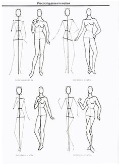 Clothing Design Tutorial Poses in motion