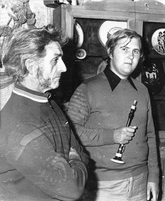 Pierre Guillet et Roland Becker. Photo : Albert Garin, 1979.