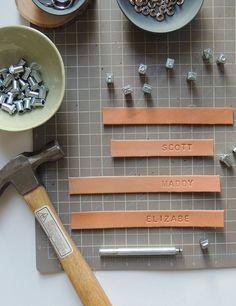 DIY Monogrammed Leather Key Rings #theeverygirl