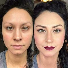 Before and After Makeup Look. Create your own custom cosmetics kit at briastone.com #LimeLifeLuxe Light skin foundation shades. waterproof concealer. Dewy skin