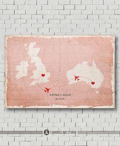 Unique Wedding Guest Book - Vintage World Map - Wedding Poster -Wedding Art Print - Wedding Map - Destination Wedding - Love Map - Keepsake on Etsy, £27.41