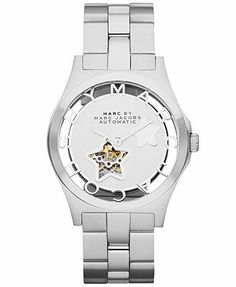Marc by Marc Jacobs Watch, Women's Automatic Henry Stainless Steel Bracelet 40mm MBM9708