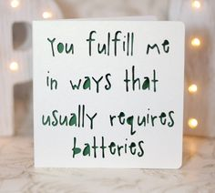 You fulfill me in way that usually requires batteries gay card card for him card for her porn card porn birthday card gay birthday card by ParadisePapercraft on Etsy Birthday Card Online, Birthday Presents For Mom, Birthday Cards For Him, Birthday Card Sayings, Funny Birthday Cards, Humor Birthday, Presents For Him, Birthday Quotes For Her, Valentines Day Birthday