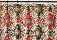 Pair of rod curtains drapery panels window treatment by EllaSeeh