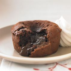 Individual Chocolate Lava Cakes Recipe  This is just one of a series of small bite recipes that will make you a big hit this holiday from Ghirardelli.