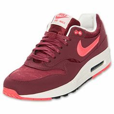 Men's Nike Air Max 1 Premium Running Shoes | FinishLine.com | Team Red/Atomic Red/Black/Sail