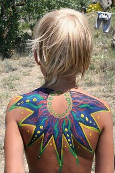 body paint for electric forest.. where do you get this stuff... ? Craft stores?