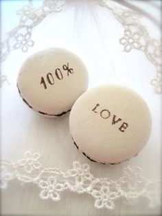100 Love Ceramic Macarons Sachet Fragrance Object by Hideminy