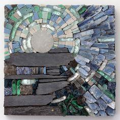 81 murrini verre cristal tuiles de mosaïque-gris ardoise