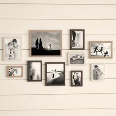 Cadre photo 4 photos Parenthèses étoiles Bois Blanc Cadre Photo Galerie Photos Collage
