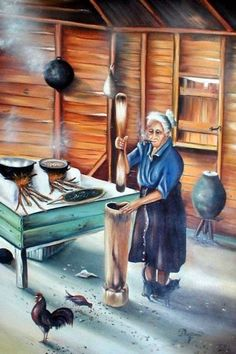 ☀ Puerto Rico ☀ This remind me of Abuela Elena in San German :`) Puerto Rican Dishes, Puerto Rican Cuisine, Puerto Rican Recipes, Cuba, Puerto Rico Food, Puerto Rico History, Puerto Rican Culture, Enchanted Island, Caribbean Art