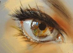 """Pavel Guzenko """"They say that the human hand is the hardest thing to draw. While it may very well be true, it's the eyes that draw my attention the most. Ukrainian artist Pavel Guzenko manages to capture the glimmering gaze of the human eye with his impressionist technique. Each shimmering orb depicts a remarkable reflective surface, truly capturing the sparkle in one's eye..."""""""