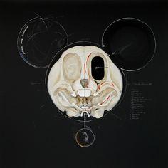 New Anatomical Artworks of Cartoon Characters by Hyungkoo Lee