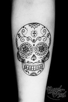 Sugar skull custom tattoo