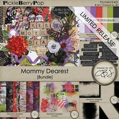 Back for a limited time until May 31st!  Not your typical Mother's Day Bundle, but tons of fun just the same!  You'll love the fun papers and embellishments as well as the humorous word bits.  Blend papers together effortlessly with the amazing Page Blendits. https://www.pickleberrypop.com/shop/product.php?productid=51131&page=1