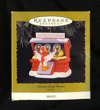 Hallmark 1996 CHICKEN COOP CHORUS  Magic Ornament  Plays Music Nice Cond. w/ Box