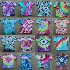 Tulip Tie Dye T-shirt Party! Tulip Tie Dye T-shirt Party! Tie Dye your Summer! Tie Dye is the first signs of Summertime. The bright colors and hippy look are perfect for Summer b… Fête Tie Dye, Tulip Tie Dye, Tie Dye Party, Bleach Tie Dye, How To Tie Dye, Bleach Pen, Tie Dye Steps, Party Party, Ideas Party