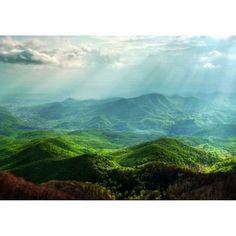 Fototapet Startonight Dimineata in munti, luminos in intuneric, 3.66 x 2.56 m