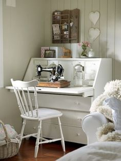 LOVE the sewing machine LOVE the writing desk NEED BOTH - Would be great in the dining/family room