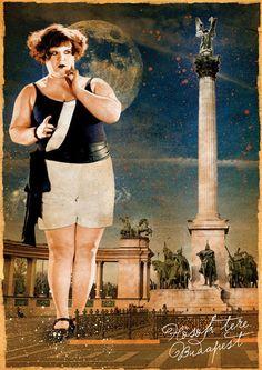 Postcard - Budapest - Hero's Square. Ft400.00, via Etsy.