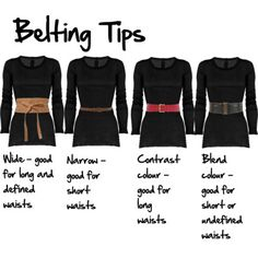 . . I'm an H shape, not waist to speak of, and sometimes I wish I could wear a belt, but they just show off my lack of waist. So what are my options? How to Wear a Belt, H or O Shape by imogenl featuring Forever21 Option 1 is to wear it low down...